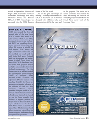 Marine Technology Magazine, page 21,  Apr 2012 Albert Michael