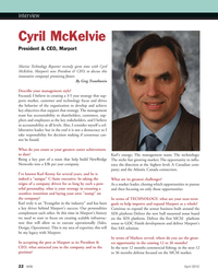 Marine Technology Magazine, page 22,  Apr 2012 Cyril McKelviePresident
