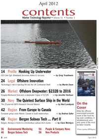 Marine Technology Magazine, page 2,  Apr 2012 Martin Ewan