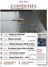 Marine Technology Magazine, page 2,  Apr 2012 Martin Ewan