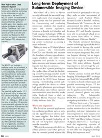 Marine Technology Magazine, page 38,  Apr 2012 imaging technology