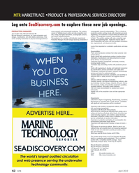 Marine Technology Magazine, page 62,  Apr 2012 assembly tools