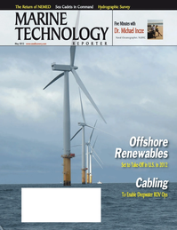 Marine Technology Magazine Cover May 2012 - Hydrographic Survey