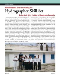 Marine Technology Magazine, page 18,  May 2012 interferometric sonar systems