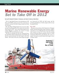 Marine Technology Magazine, page 24,  May 2012 Nicholas A. Giannasca