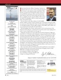 Marine Technology Magazine, page 4,  May 2012 Gulf of Mexico