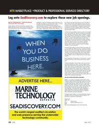 Marine Technology Magazine, page 62,  May 2012 Louisiana
