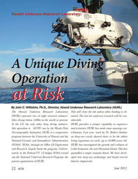 Marine Technology Magazine, page 22,  Jun 2012 HURL 22 MTRJune 2012MTR