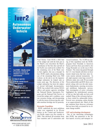 Marine Technology Magazine, page 24,  Jun 2012 National Park Service