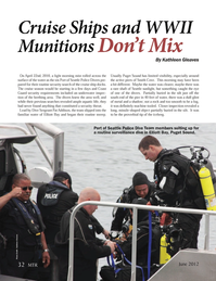 Marine Technology Magazine, page 32,  Jun 2012 Ships and WWII Munitions Don?t Mix By Kathleen Gleaves Port of Seattle Police Dive Team