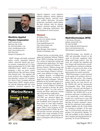 Marine Technology Magazine, page 40,  Jul 2012