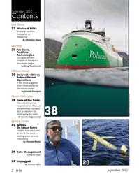 Marine Technology Magazine, page 2,  Sep 2012 Martin Dyer
