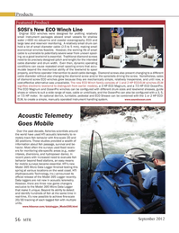 Marine Technology Magazine, page 56,  Sep 2012 Hydroacoustic Technology Inc.