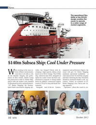 Marine Technology Magazine, page 10,  Oct 2012 GC Rieber Shipping
