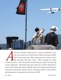Marine Technology Magazine, page 32,  Oct 2012 Ocean Observing Systems