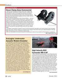 Marine Technology Magazine, page 58,  Oct 2012 Dave Jones