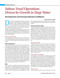 Marine Technology Magazine, page 22,  Nov 2012 oil and gas