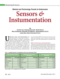 Marine Technology Magazine, page 36,  Nov 2012 California
