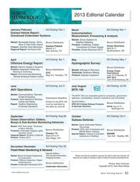 Marine Technology Magazine, page 41,  Nov 2012