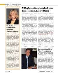 Marine Technology Magazine, page 52,  Nov 2012 Silver Spring