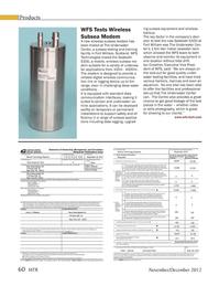 Marine Technology Magazine, page 60,  Nov 2012 wireless subsea modem