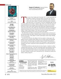 Marine Technology Magazine, page 6,  Nov 2012