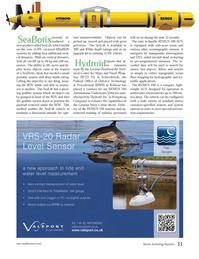 Marine Technology Magazine, page 31,  Jan 2013 ROV stable