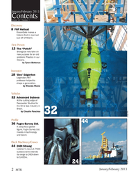 Marine Technology Magazine, page 2,  Jan 2013