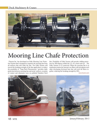 Marine Technology Magazine, page 48,  Jan 2013 Chafe Protection Mooring Line Chafe Protection Fluoron Inc.