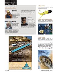 Marine Technology Magazine, page 4,  Jan 2013 Terry Knight