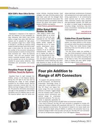 Marine Technology Magazine, page 58,  Jan 2013 underwater equipment solutions