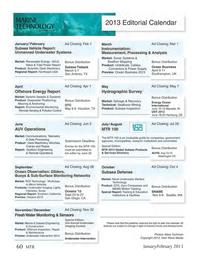 Marine Technology Magazine, page 60,  Jan 2013