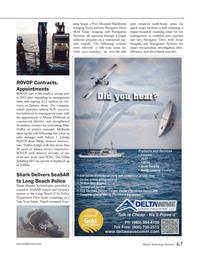 Marine Technology Magazine, page 67,  Mar 2013 Long Beach Police Shark Marine Technologies