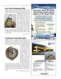 Marine Technology Magazine, page 71,  Mar 2013 Yaquina Bay