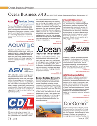 Marine Technology Magazine, page 74,  Mar 2013 cable assembly solutions