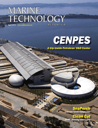 Marine Technology Magazine Cover Apr 2013 - Offshore Energy Report