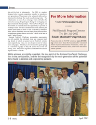 Marine Technology Magazine, page 14,  Apr 2013 Unmanned Vehicle Systems International Foundation