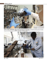Marine Technology Magazine, page 36,  Apr 2013 Rock Physics Laboratory
