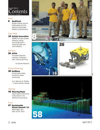 Marine Technology Magazine, page 2,  Apr 2013 subsea abrasive cutting technology
