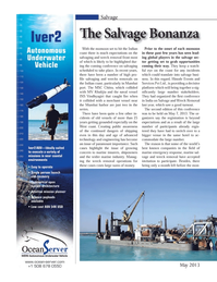 Marine Technology Magazine, page 12,  May 2013