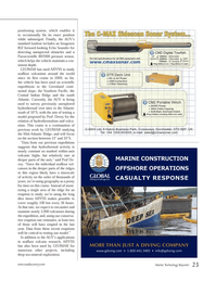 Marine Technology Magazine, page 23,  May 2013