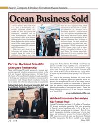 Marine Technology Magazine, page 36,  May 2013 British Columbia