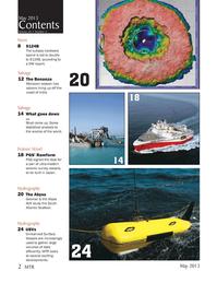 Marine Technology Magazine, page 2,  May 2013 subsea hardware