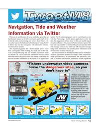 Marine Technology Magazine, page 43,  May 2013 cellular telephone