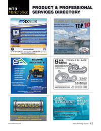 Marine Technology Magazine, page 45,  May 2013