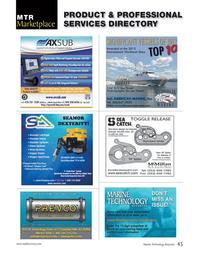 Marine Technology Magazine, page 45,  May 2013 Fountain Hills