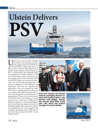 Marine Technology Magazine, page 14,  Jun 2013