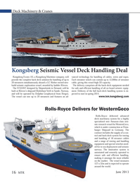 Marine Technology Magazine, page 16,  Jun 2013