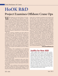 Marine Technology Magazine, page 18,  Jun 2013