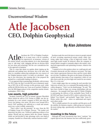 Marine Technology Magazine, page 20,  Jun 2013 Dolphin Geophysical